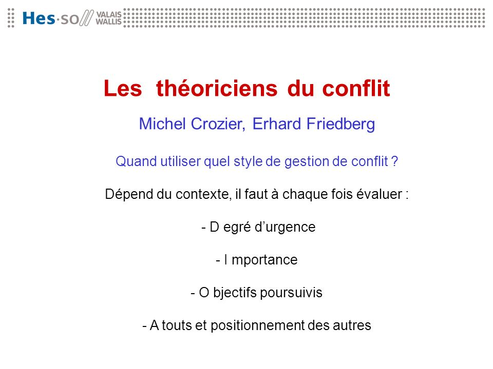 Les théoriciens du conflit