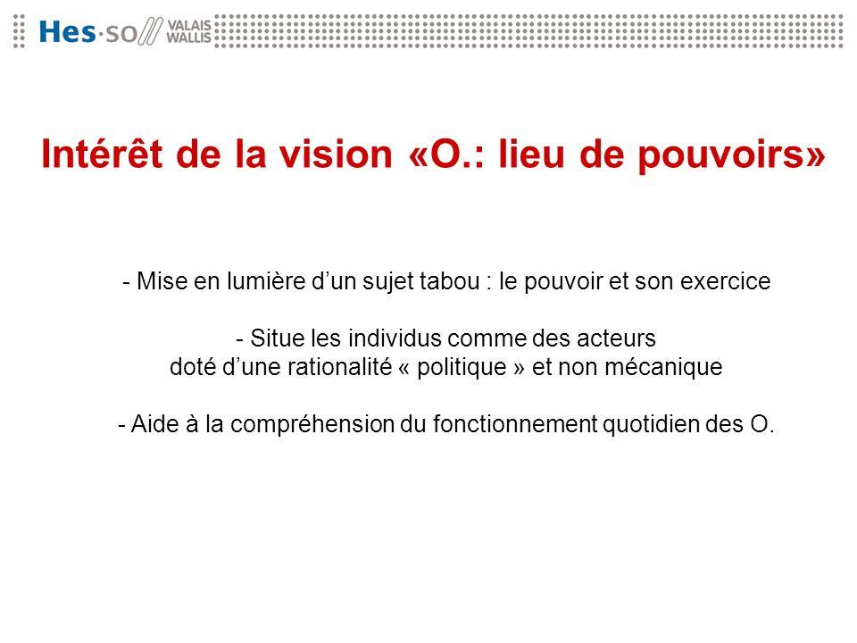 Intérêt de la vision «O.: lieu de pouvoirs»