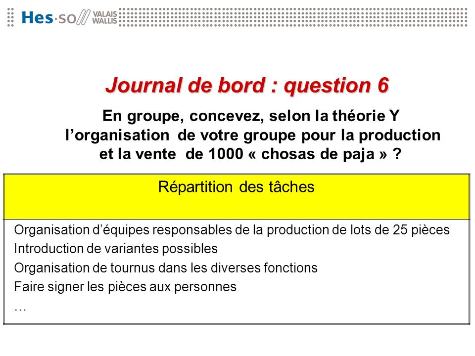 Journal de bord : question 6