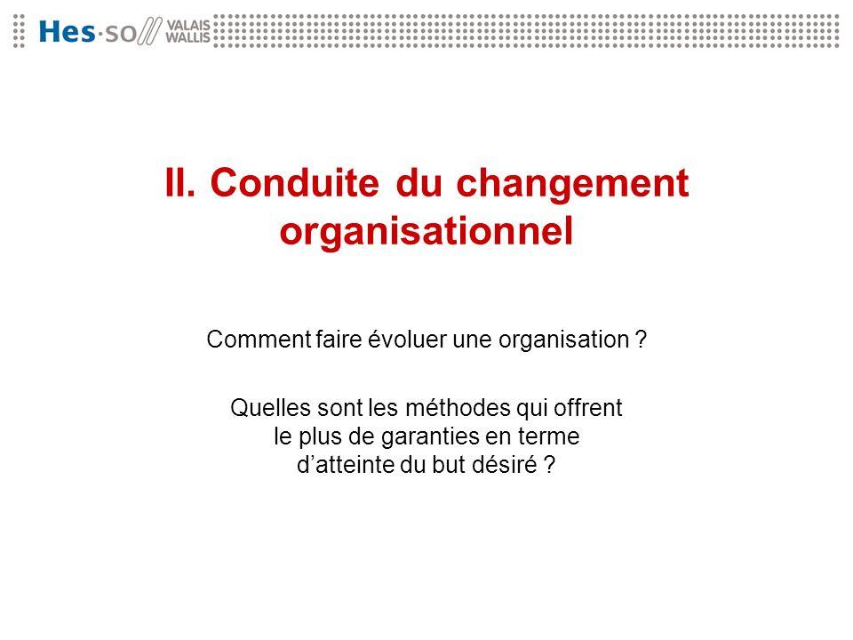 II. Conduite du changement organisationnel