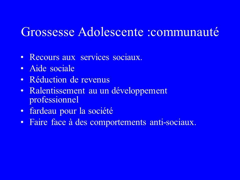 Grossesse Adolescente :communauté