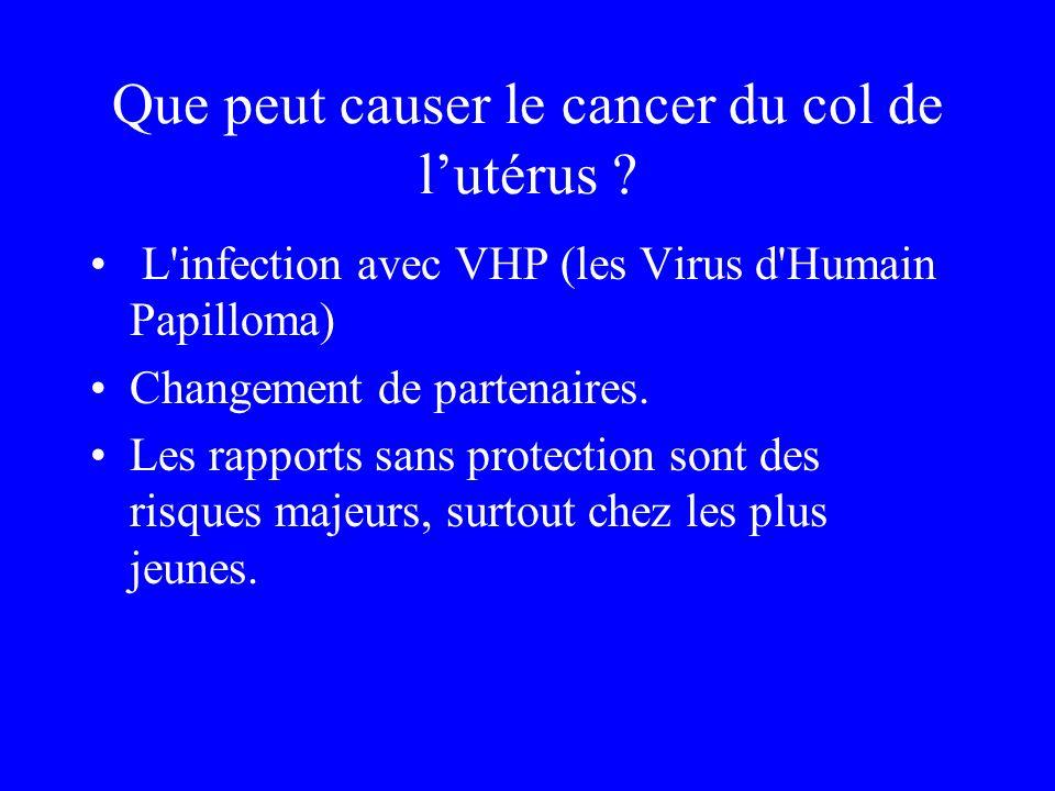 Que peut causer le cancer du col de l'utérus