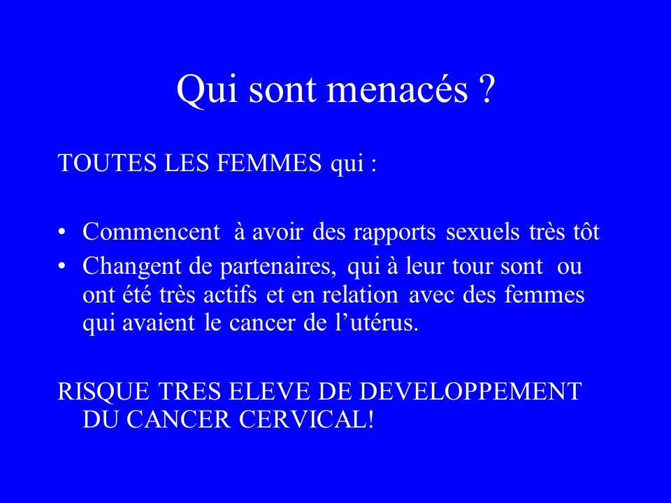 Qui sont menacés TOUTES LES FEMMES qui :