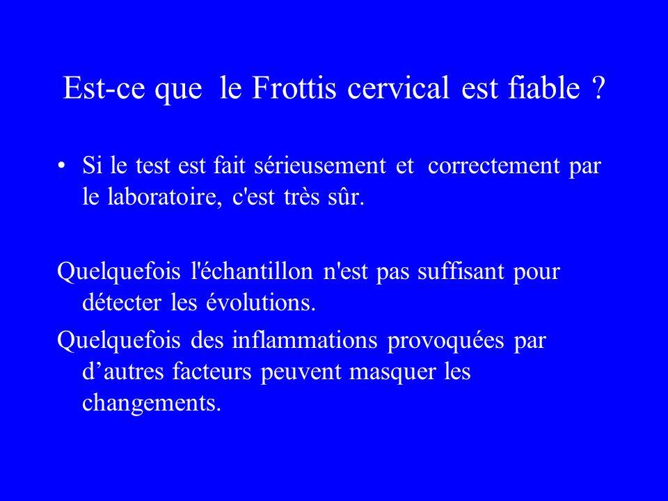 Est-ce que le Frottis cervical est fiable