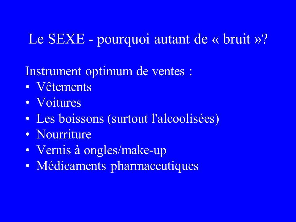Le SEXE - pourquoi autant de « bruit »