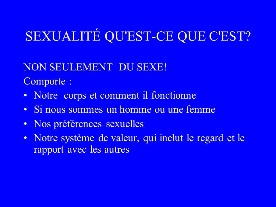 SEXUALITÉ QU EST-CE QUE C EST