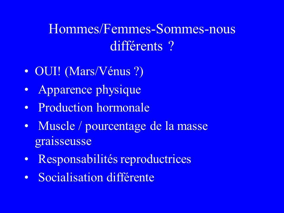 Hommes/Femmes-Sommes-nous différents