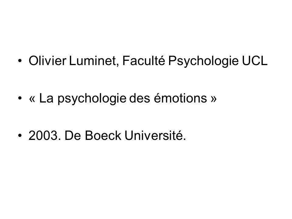 Olivier Luminet, Faculté Psychologie UCL