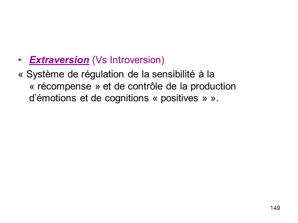 Extraversion (Vs Introversion)