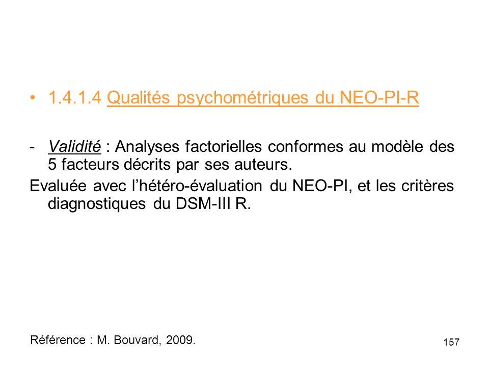 1.4.1.4 Qualités psychométriques du NEO-PI-R