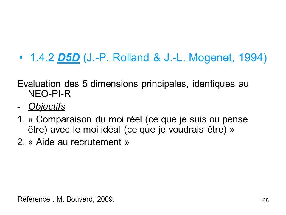 1.4.2 D5D (J.-P. Rolland & J.-L. Mogenet, 1994)