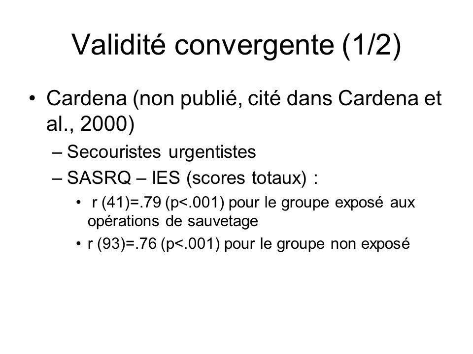 Validité convergente (1/2)