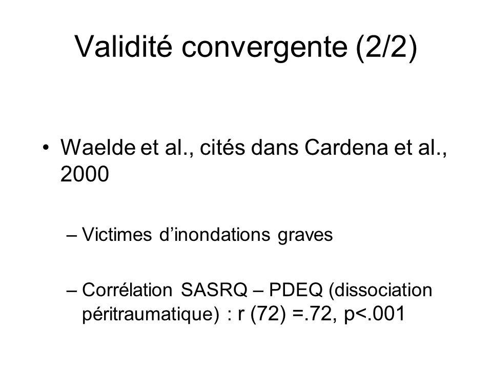 Validité convergente (2/2)