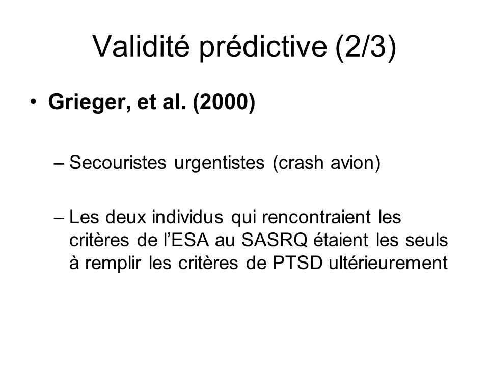 Validité prédictive (2/3)