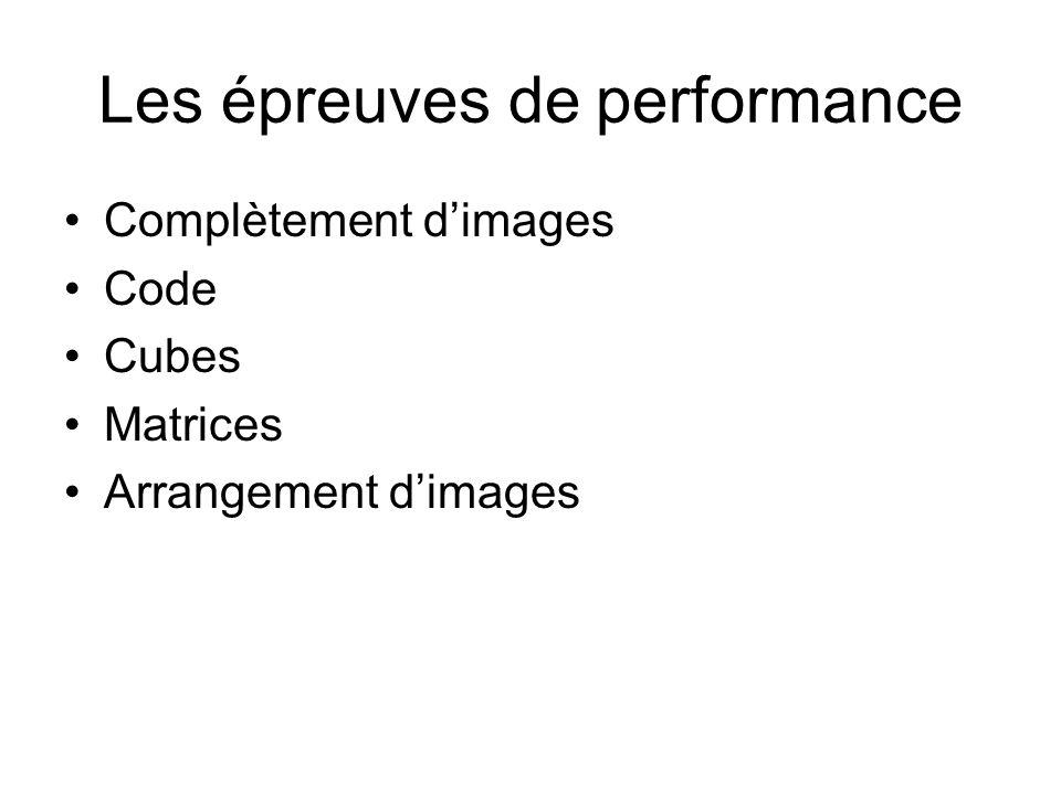Les épreuves de performance