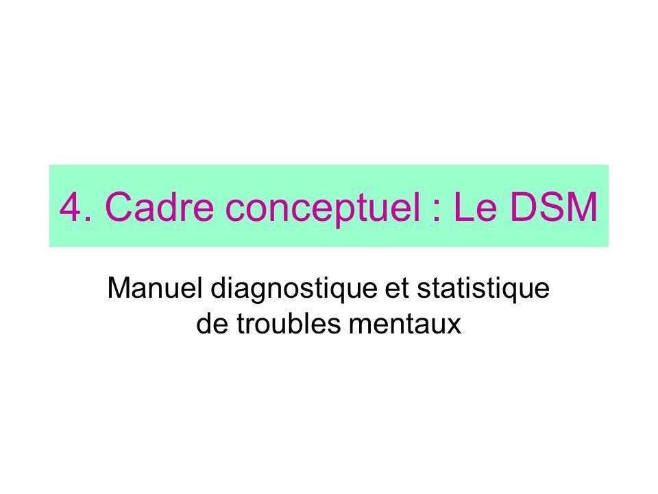 4. Cadre conceptuel : Le DSM
