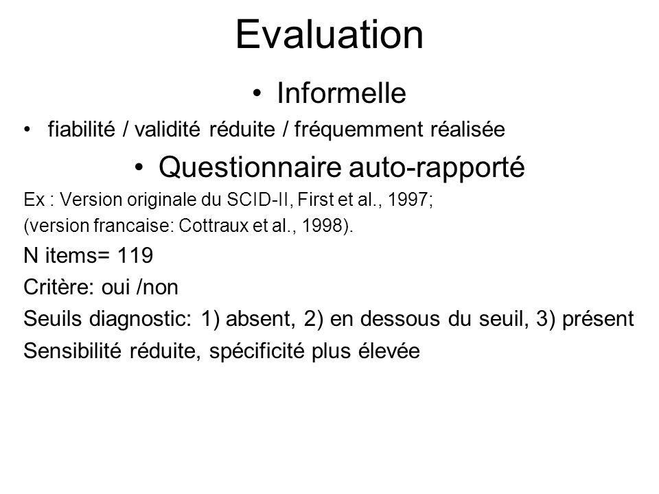 Questionnaire auto-rapporté