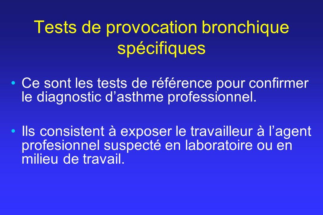 Tests de provocation bronchique spécifiques