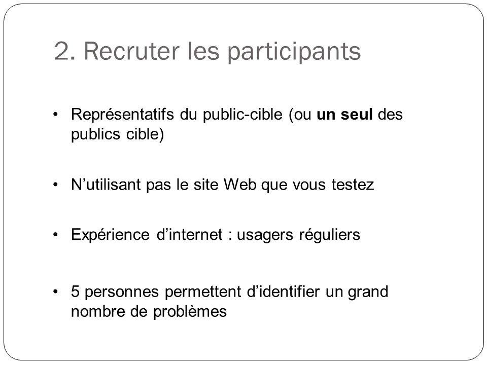 2. Recruter les participants