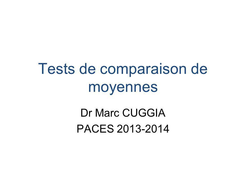 Tests de comparaison de moyennes