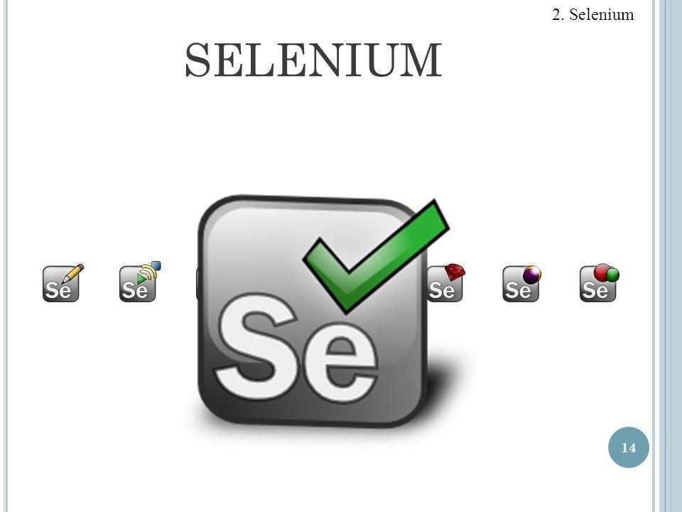 2. Selenium SELENIUM