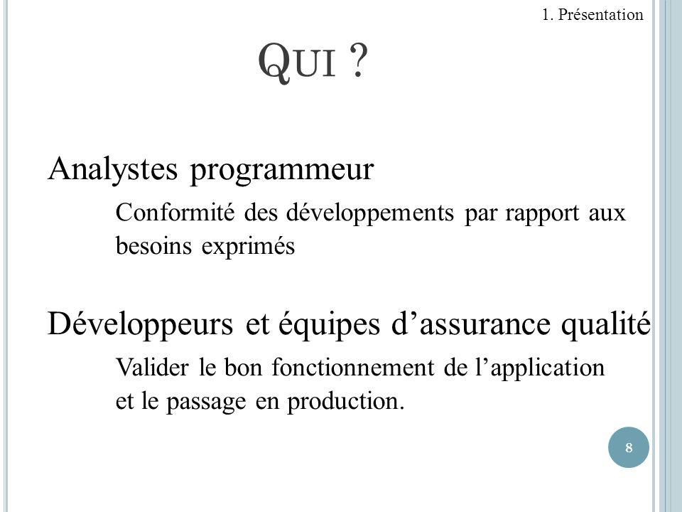 Qui Analystes programmeur