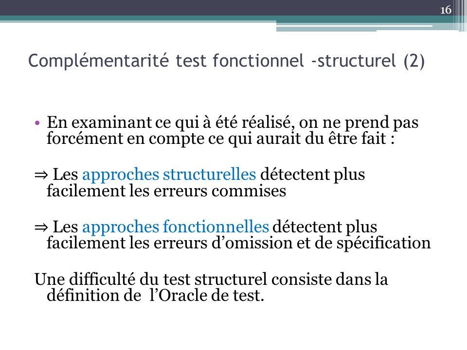 Complémentarité test fonctionnel -structurel (2)