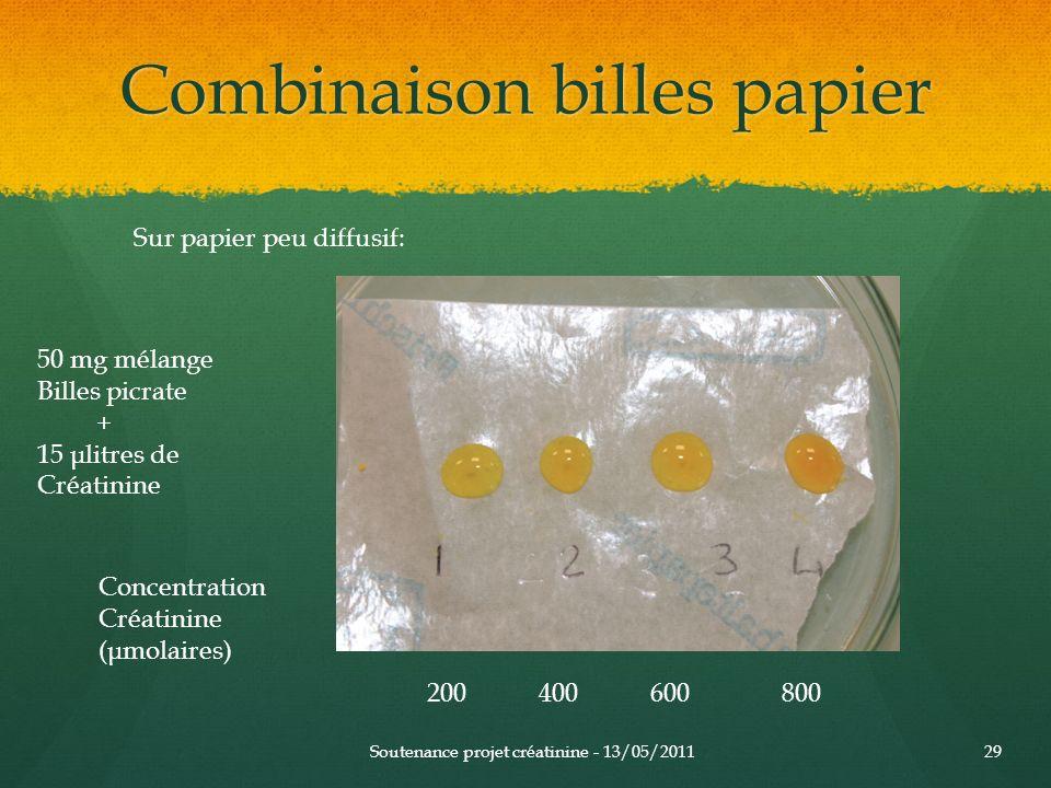 Combinaison billes papier