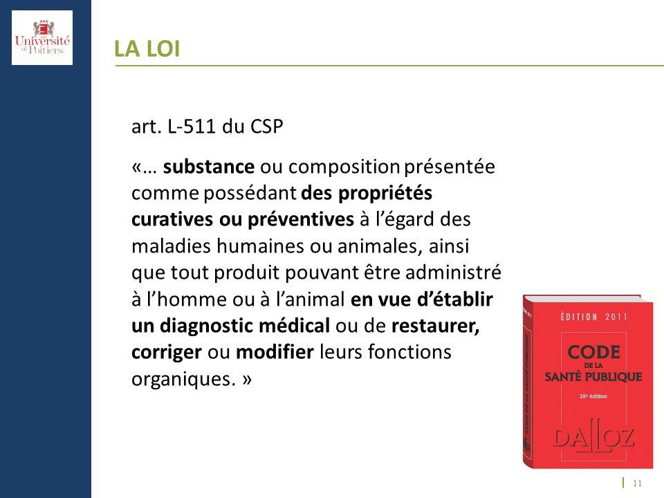 La Loi art. L-511 du CSP.