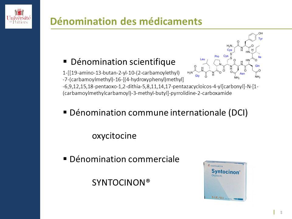 Dénomination des médicaments