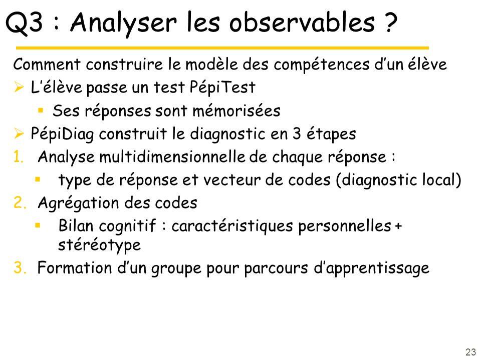 Q3 : Analyser les observables