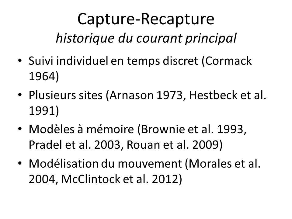 Capture-Recapture historique du courant principal