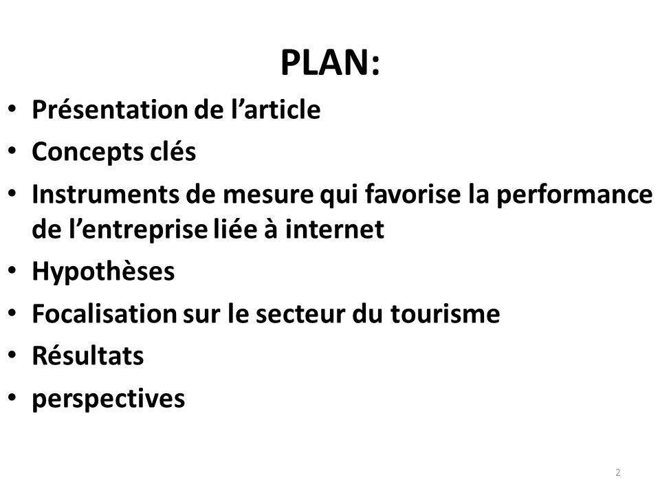 PLAN: Présentation de l'article Concepts clés