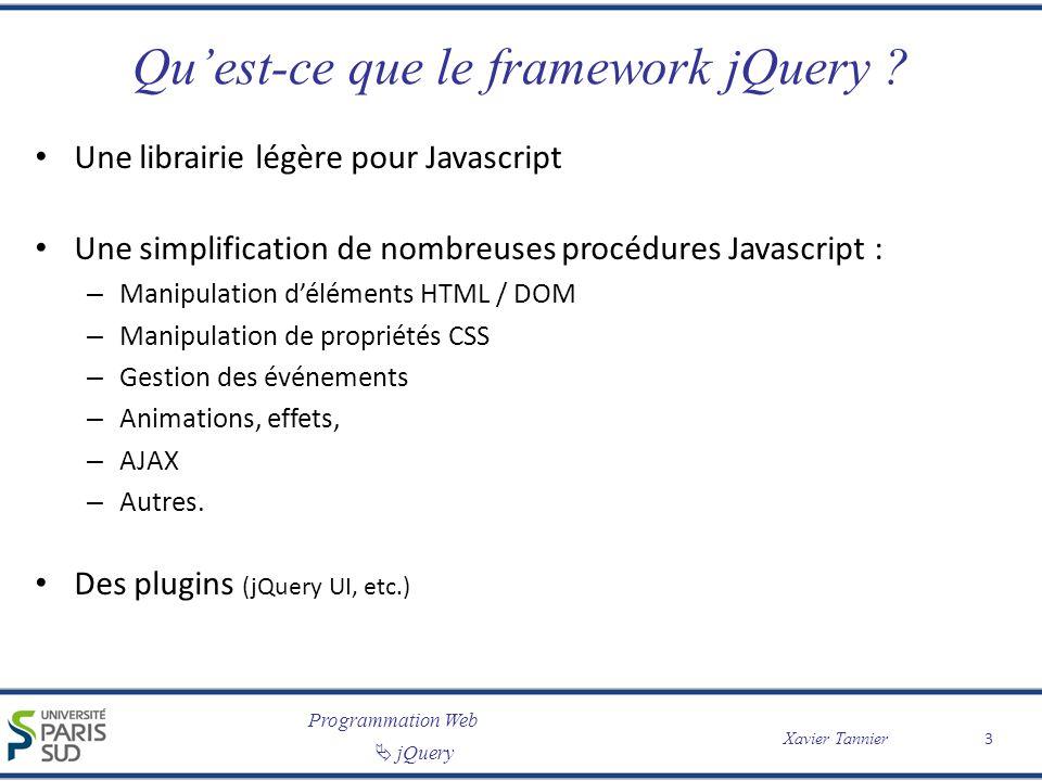 Qu'est-ce que le framework jQuery