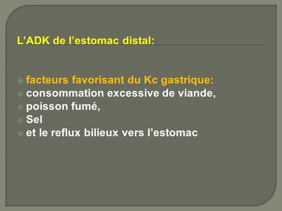 L'ADK de l'estomac distal: