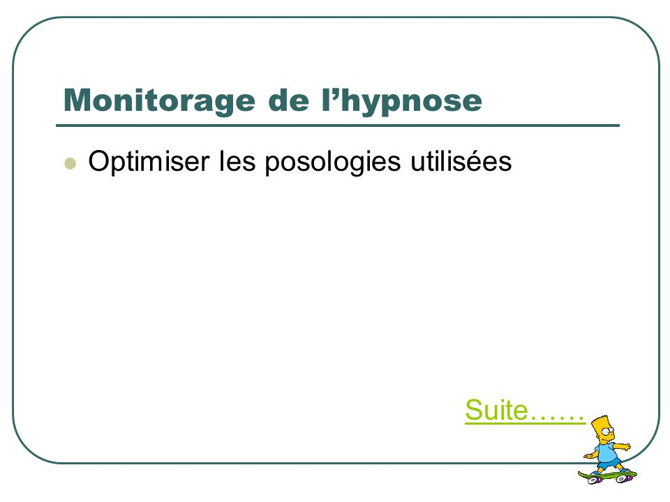 Monitorage de l'hypnose