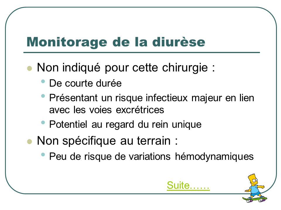 Monitorage de la diurèse