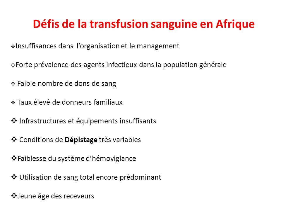Défis de la transfusion sanguine en Afrique