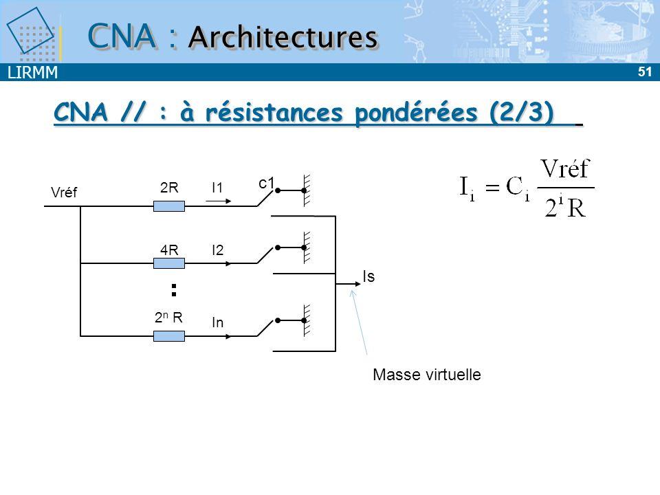 CNA // : à résistances pondérées (2/3)