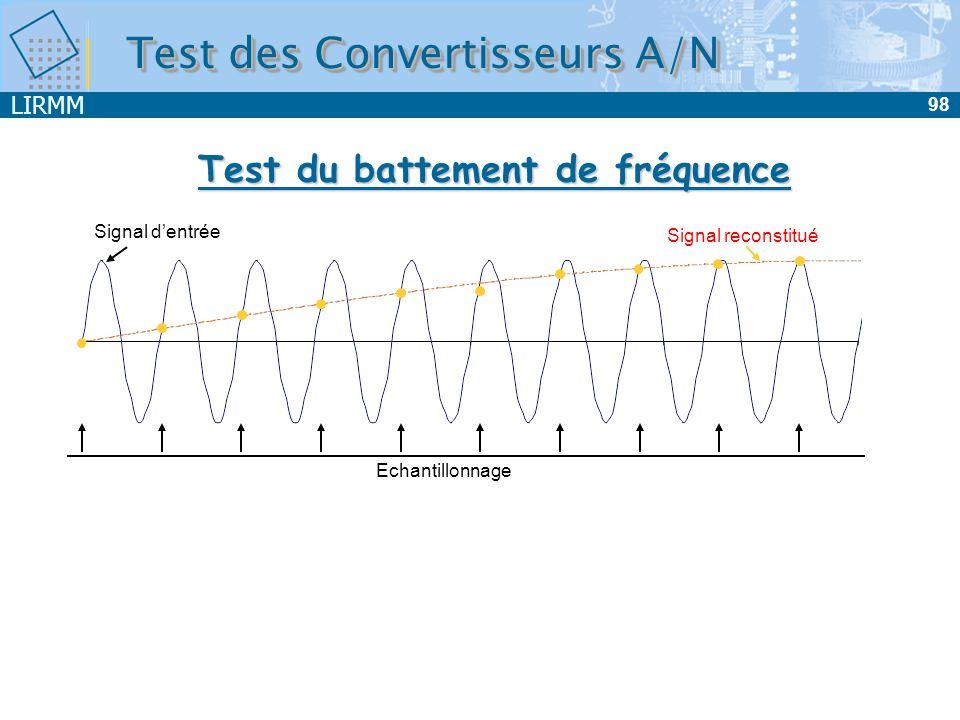Test du battement de fréquence