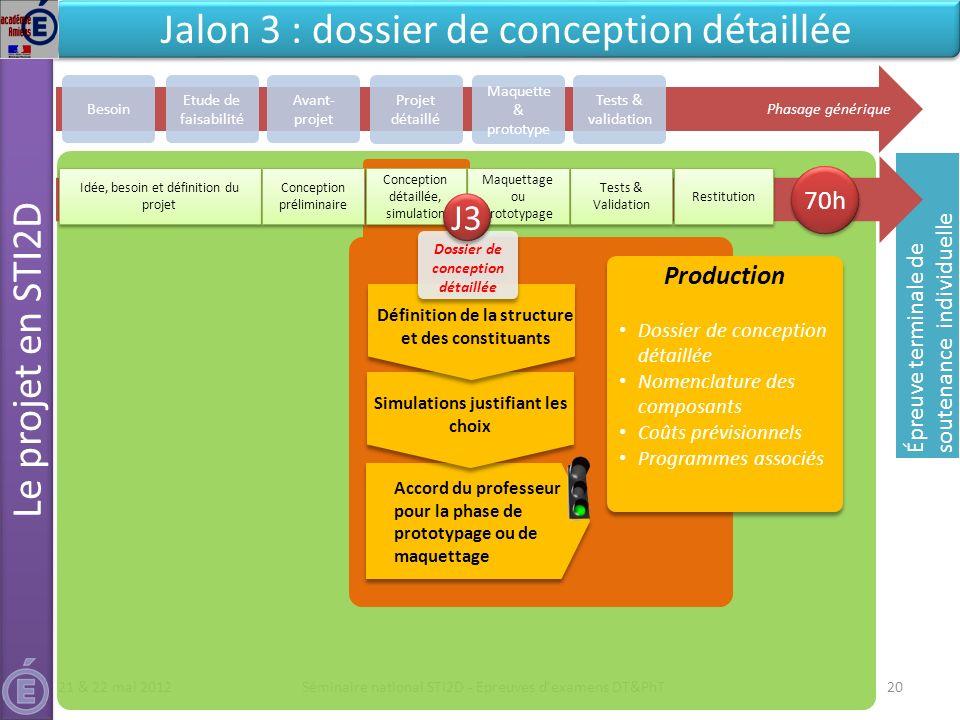 Jalon 3 : dossier de conception détaillée