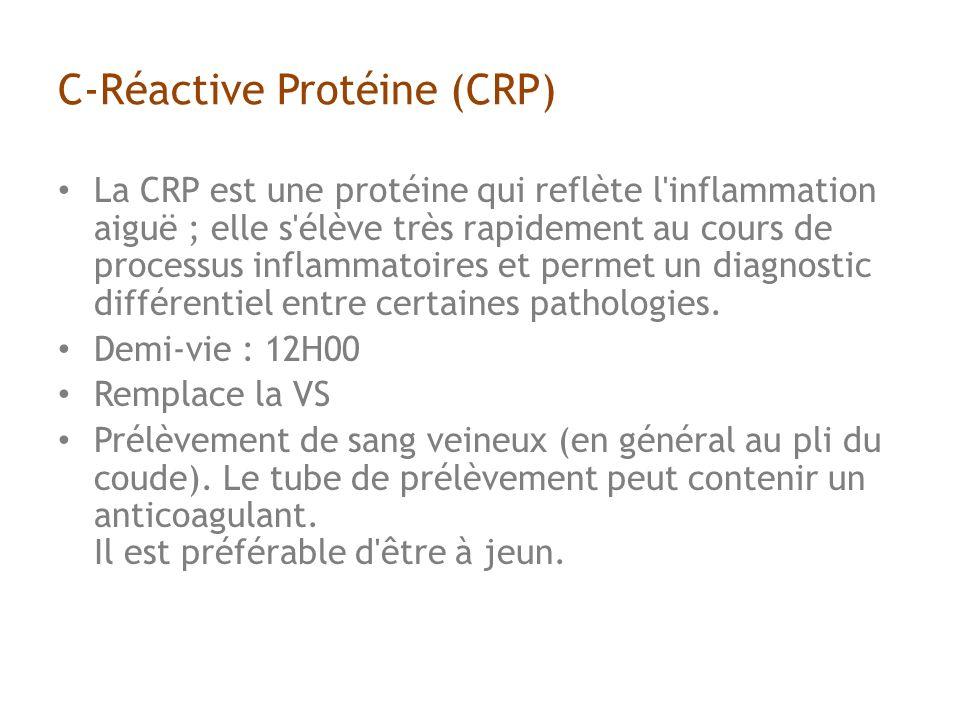 C-Réactive Protéine (CRP)