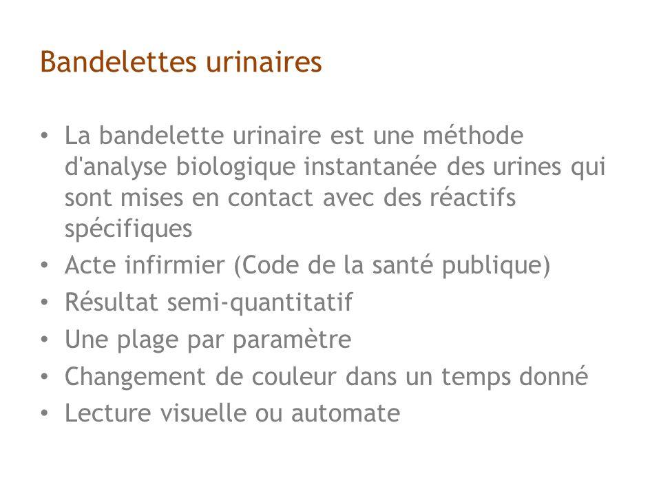 Bandelettes urinaires