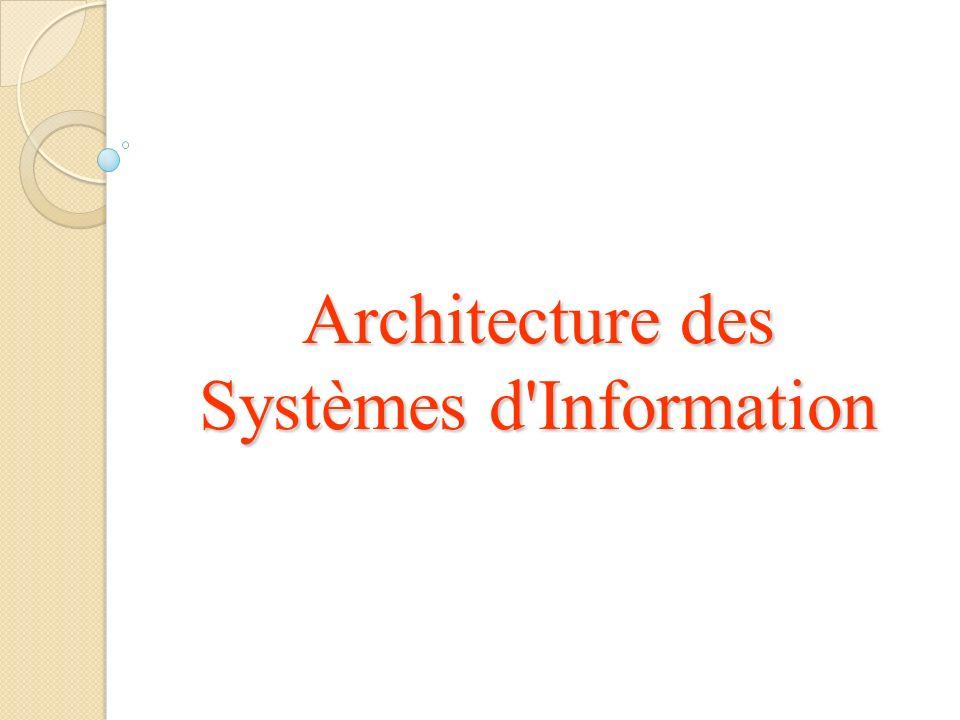 Architecture des Systèmes d Information