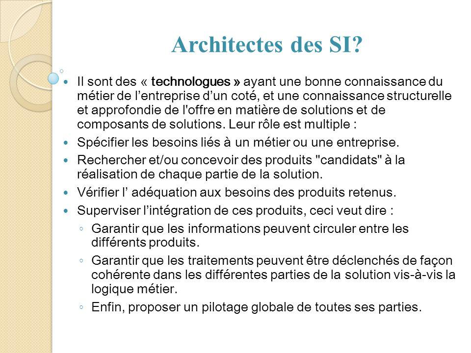 Architectes des SI