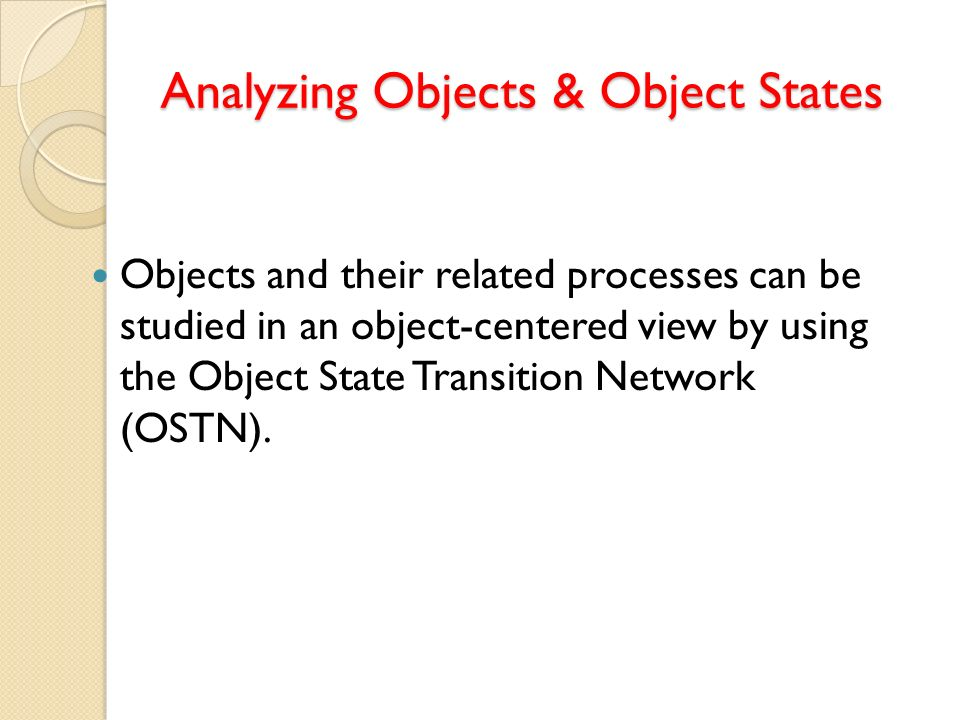 Analyzing Objects & Object States