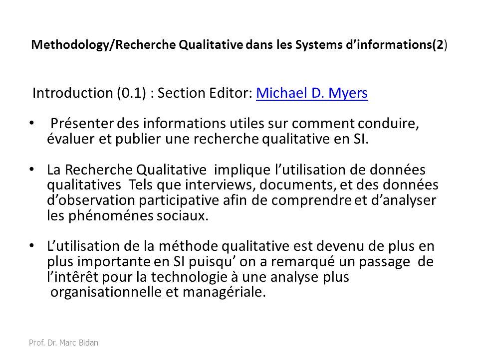 Methodology/Recherche Qualitative dans les Systems d'informations(2)
