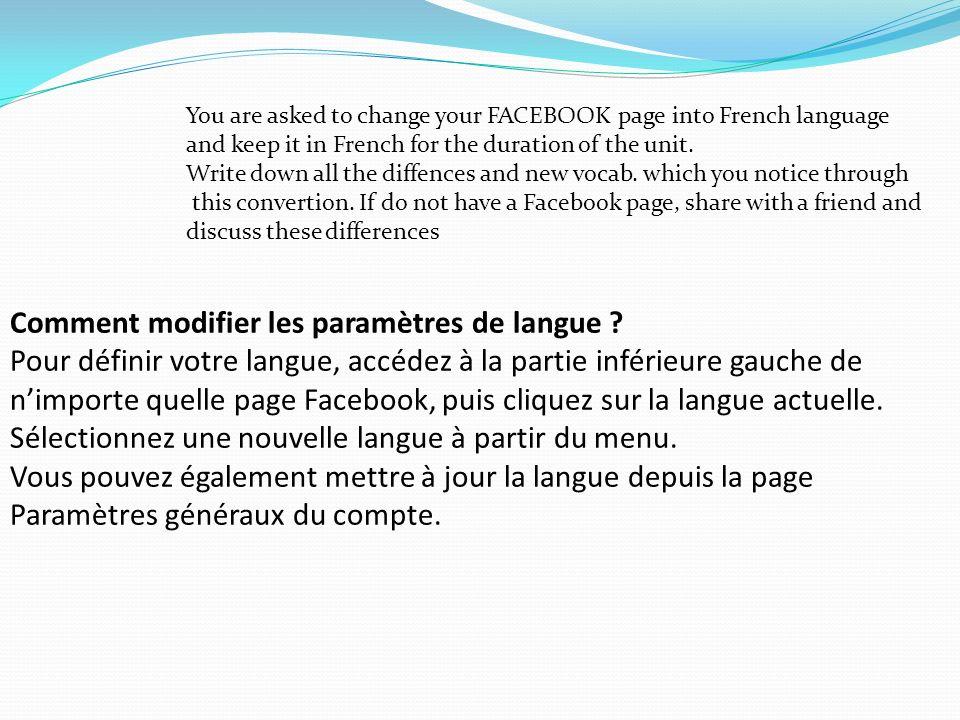 Comment modifier les paramètres de langue