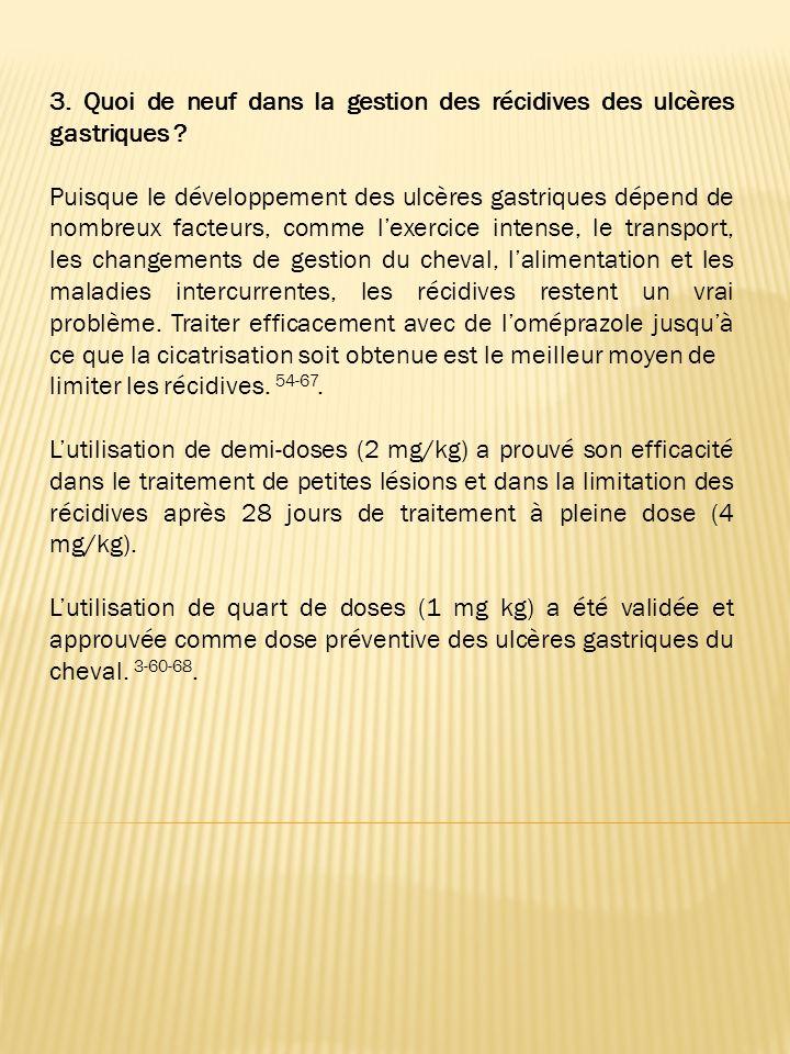 3. Quoi de neuf dans la gestion des récidives des ulcères gastriques