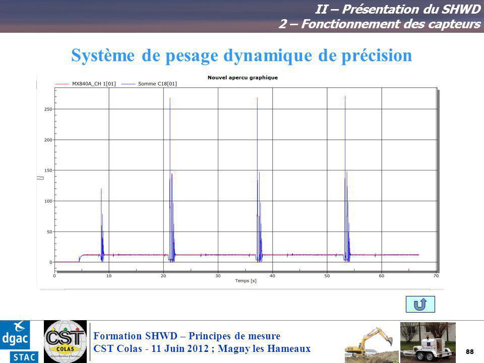 Système de pesage dynamique de précision
